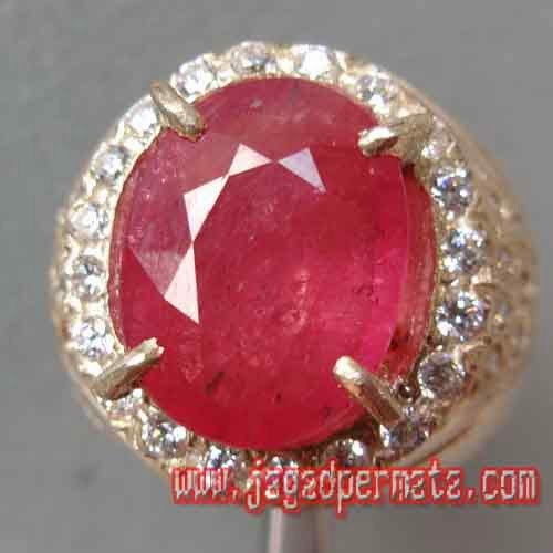 Batu Permata Pink Ruby Cutting