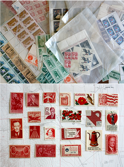 vintage postage stamps for wedding invitations