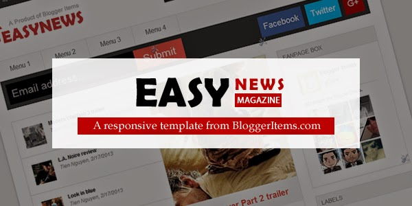 Easy News – Free Responsive Magazine Blogger Template Banner