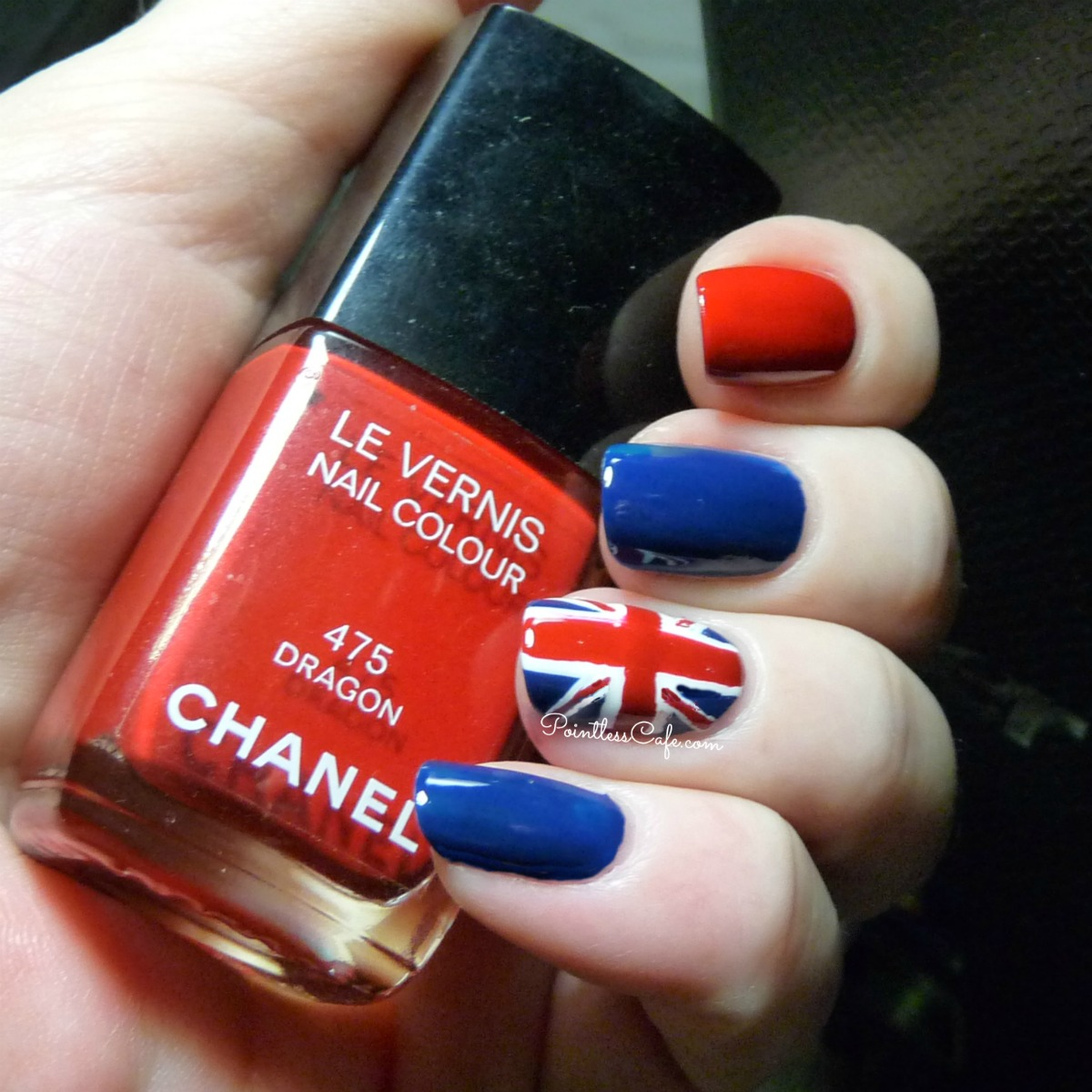 Book review idiots guides nail art pointless cafe and finally i chose an advanced designunion jack nails prinsesfo Image collections