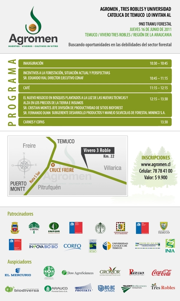 Noticias de noveno trawu forestal for Viveros en temuco