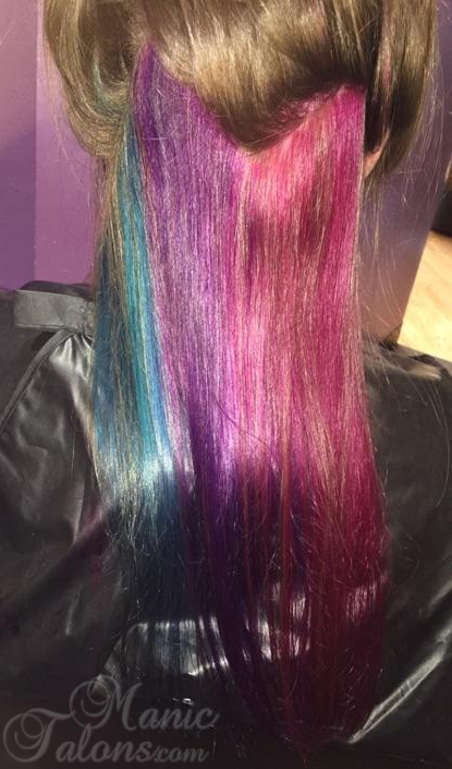 Vibrant Waterfall with Joico Vera K-Pak in Cobalt Blue, Amethyst Purple and Magenta