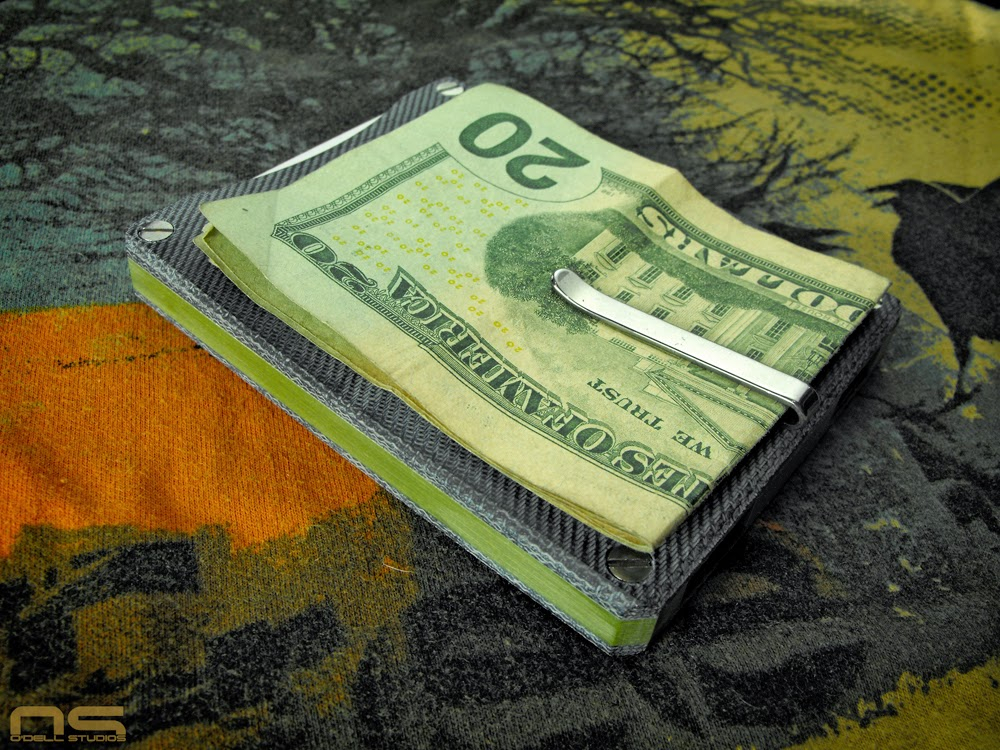 homemade micarta jeans paper micarta front pocket wallet