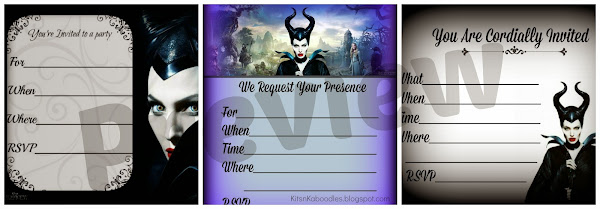 Maleficent Party Invitations Printable Free