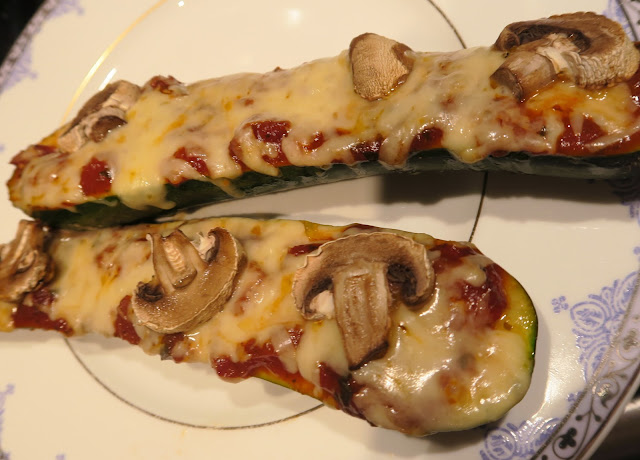 Healthy Courgette Pizza Boats