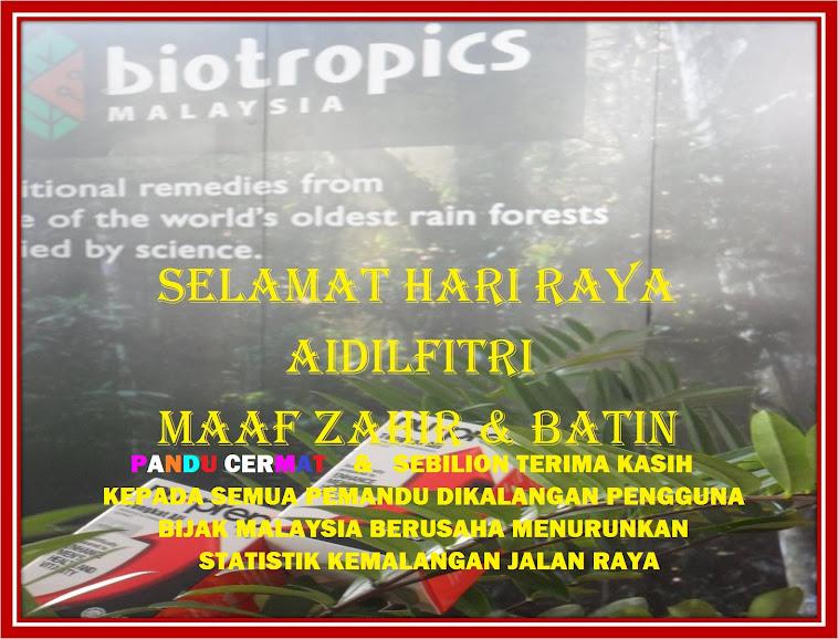 SELAMAT HARI RAYA AIDILFITRI MAAF ZAHIR & BATIN Tulus Ikhlas dari Biotropics Malaysia Berhad