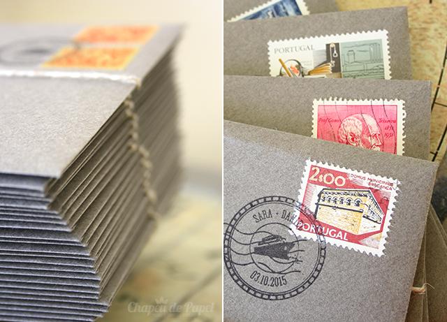 convites selos antigos