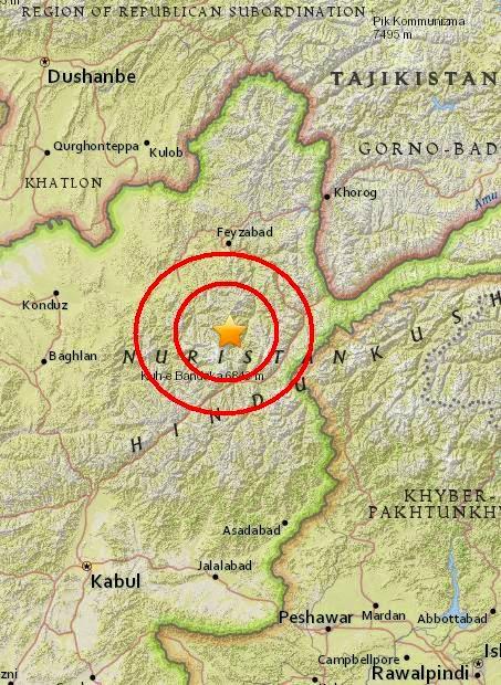 Magnitude 4.4 Earthquake of `Alaqahdari-ye Kiran wa Munjan, Afghanistan 2015-05-10