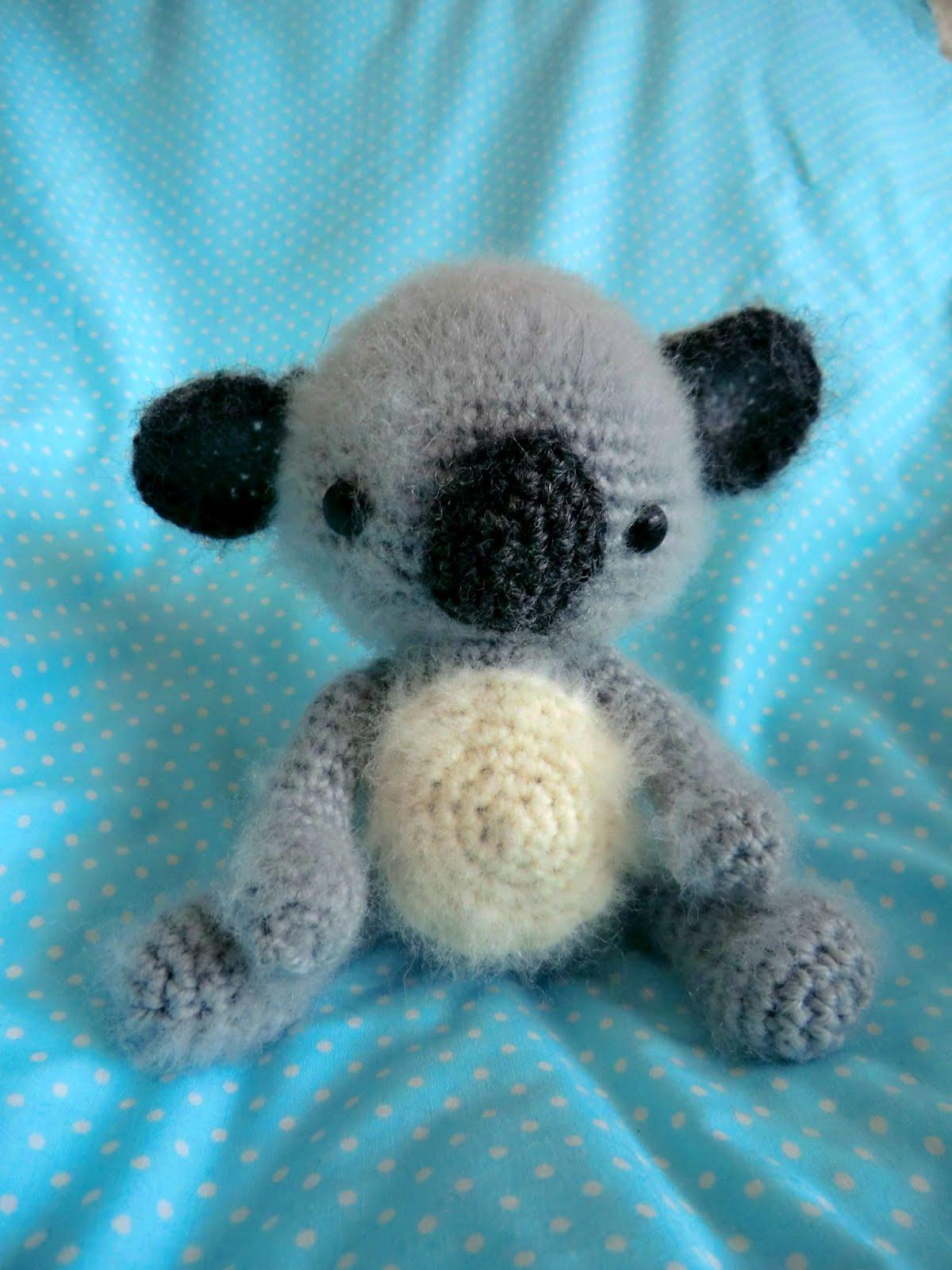 Koala Amigurumi Nose : Amigurumi Barmy: Fluffy koala