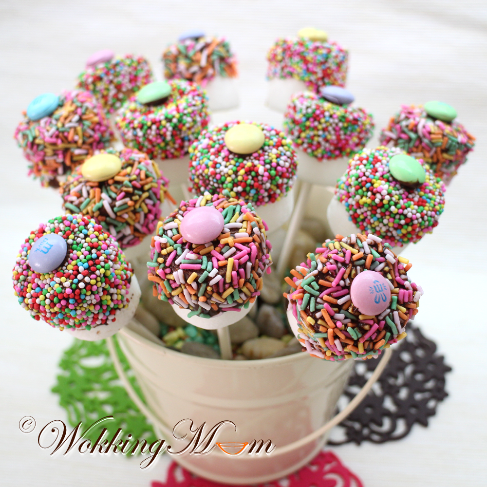 Marshmallow Pops } 棉花棒棒糖 | Recipes Recipe
