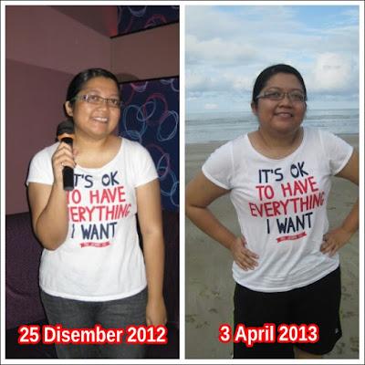 Gambar diambil pada 25 Disember 2012 dan 3 April 2013