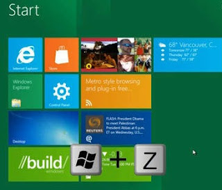 shortcuts key windows 8