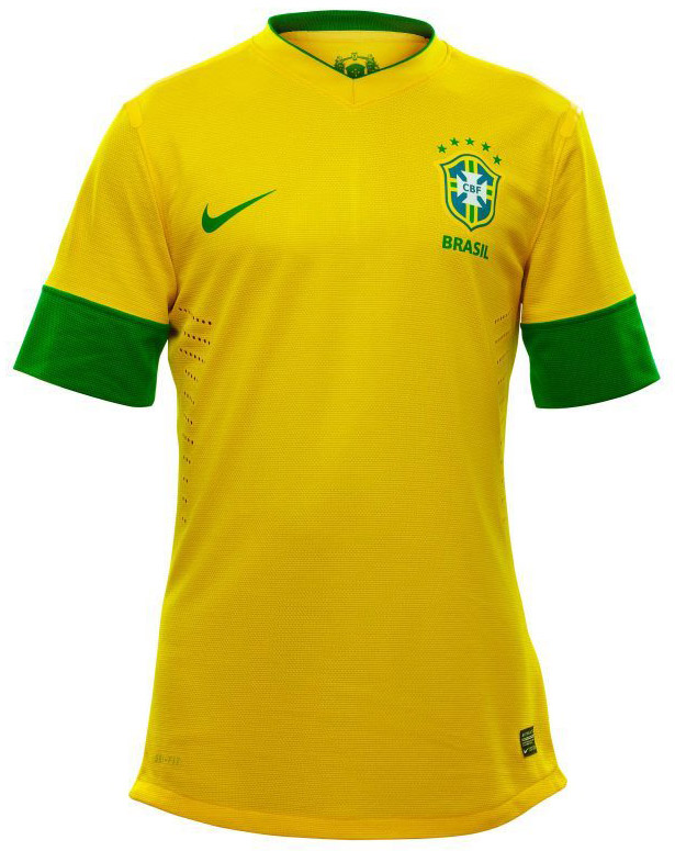 Equipaci  N   Uniforme   Camiseta Brasil Amarilla Canarinha 2012 2013
