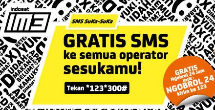 Promo IM3 SMS SUKA-SUKA