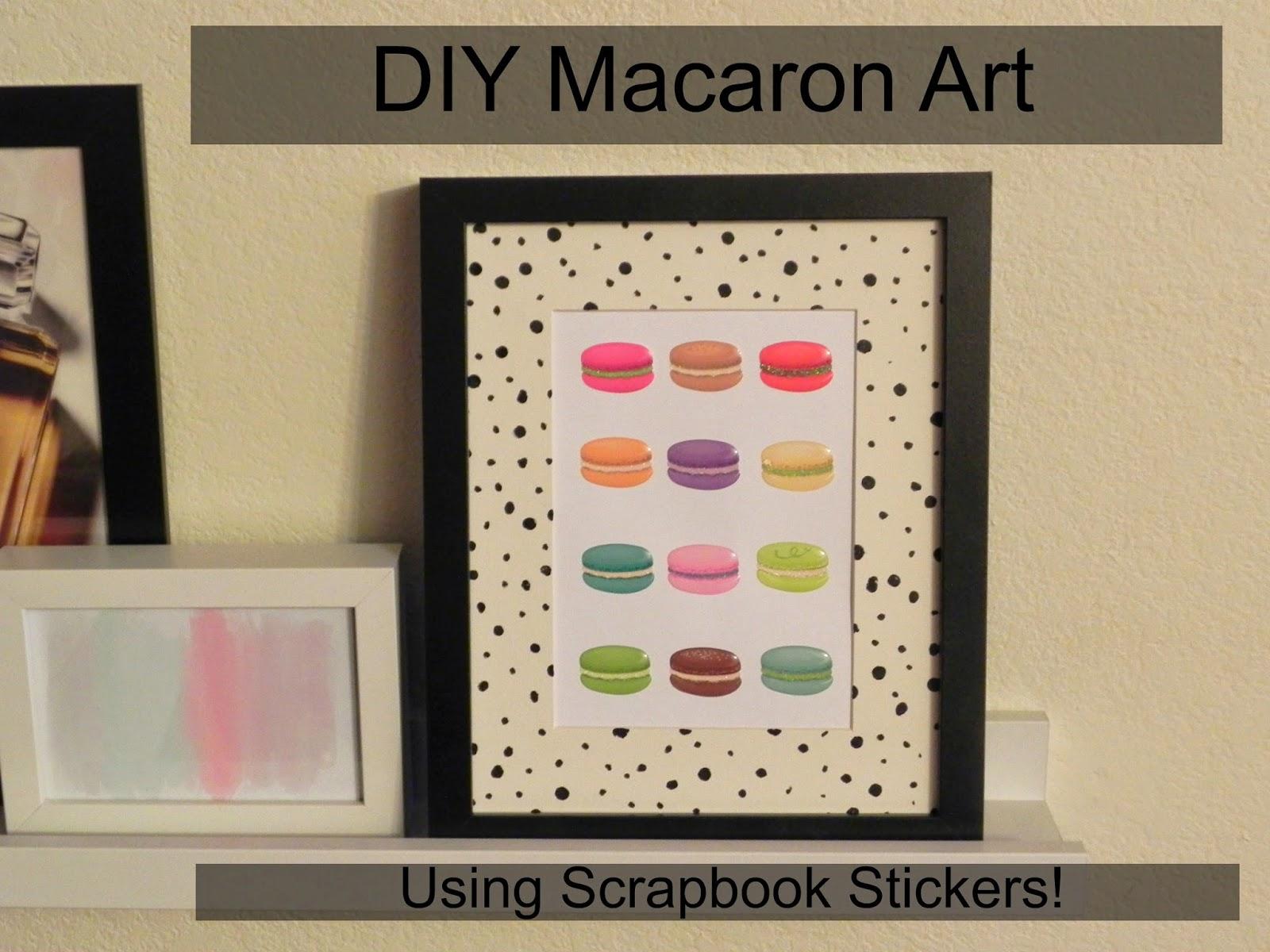 Smart N Snazzy Diy Macaron Art Using Scrapbook Stickers