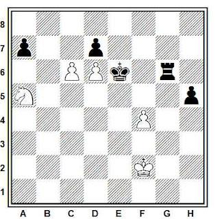 Problema ejercicio de ajedrez número 754: Estudio de L. Ponce-Sala (L'Italia Scacchística, 1955)