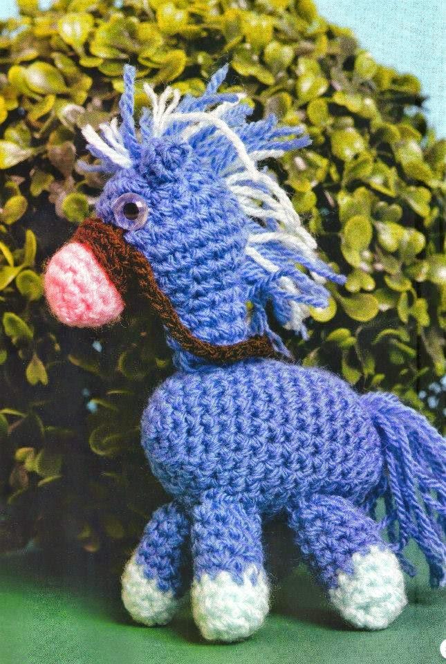 Caballito al crochet - amigurumi