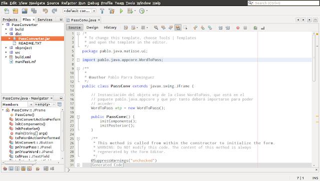 Accediendo al .jar en NetBeans