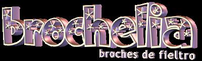 logo brochelia, broches de fieltro hechos a mano