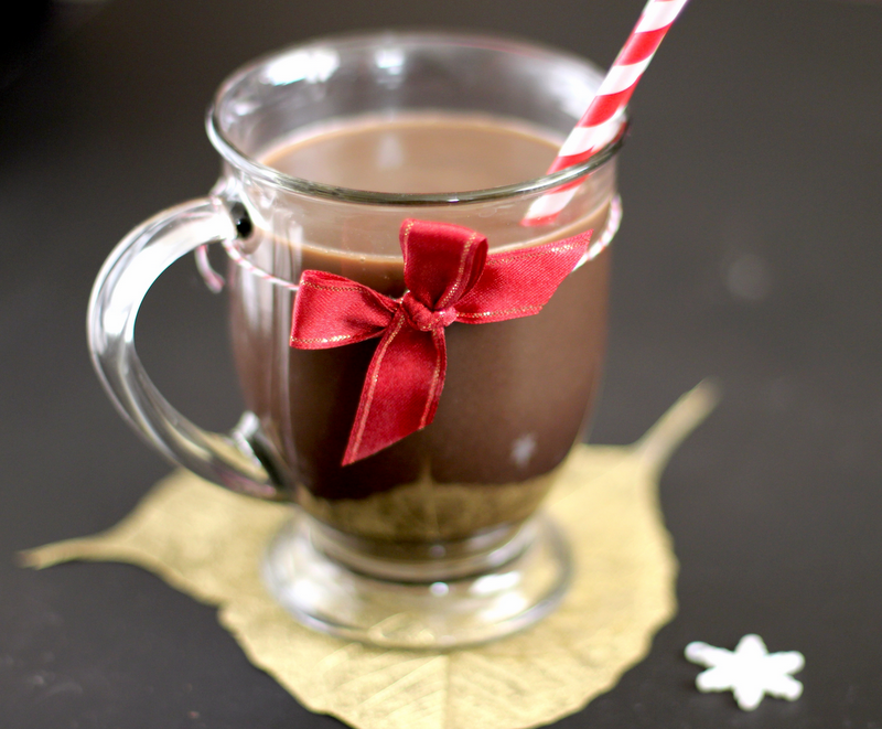 Healthy Homemade Peppermint Mocha (sugar free, low fat)
