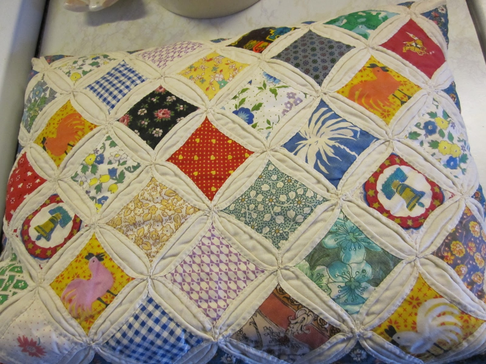 Projects cathedral window quilts for Window quilts