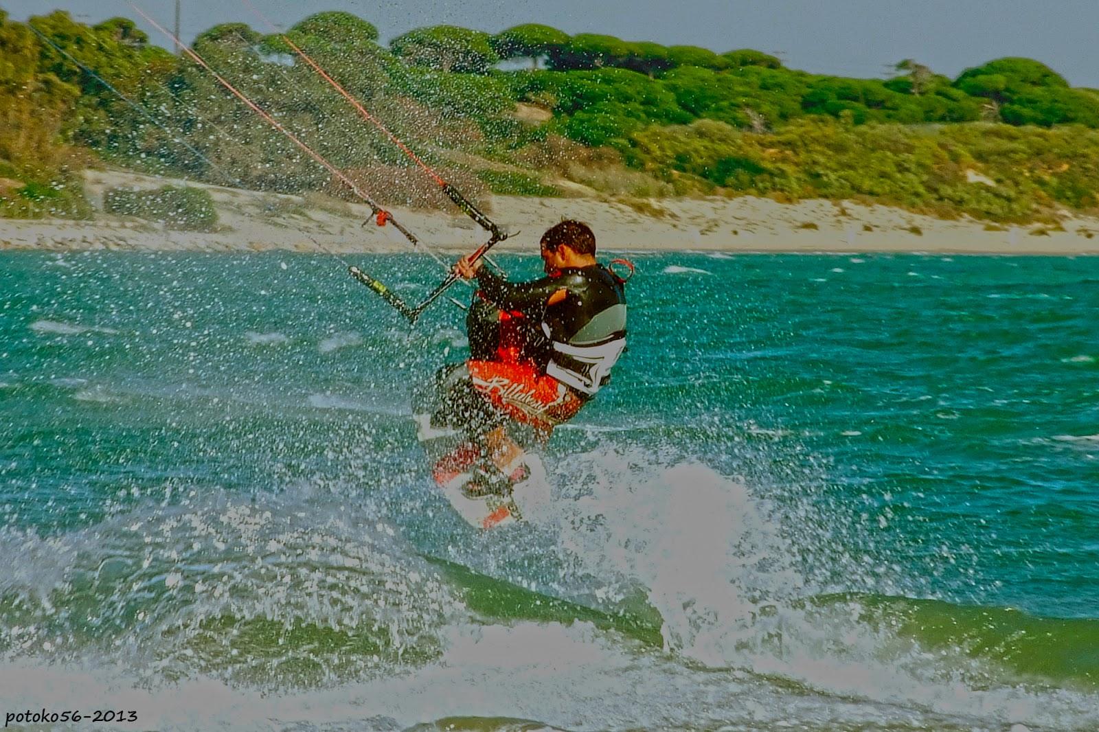 Flaysurf en la playa del Chorrillo Rota