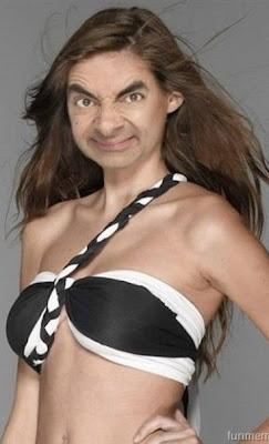 Funny Wallpaper Mr Bean gal