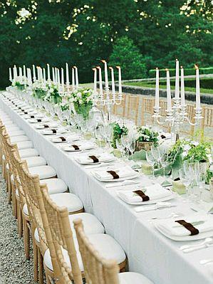 mesas para fiestas tablones
