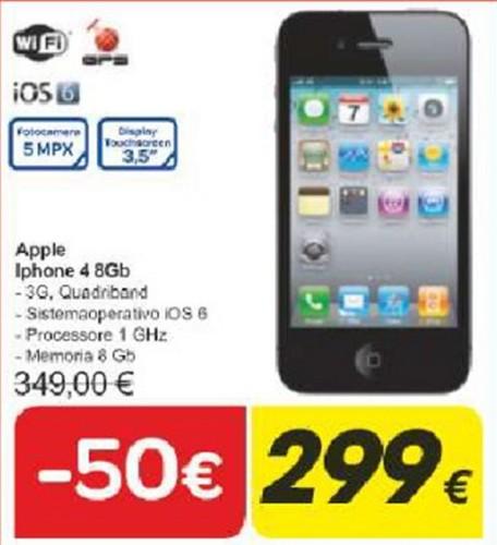 Sconto per gli inizi di Giugno sull'Apple iPhone 4 nell'ultimo volantino Carrefour