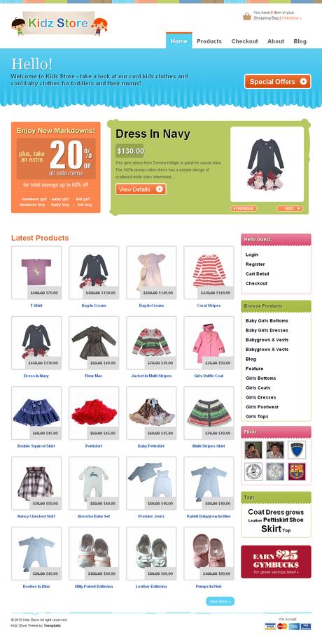 Wordpress Store Template. 40 awesome ecommerce wordpress themes ...