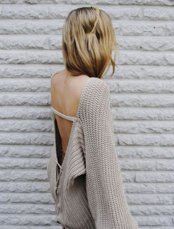 backless escote en la espalda