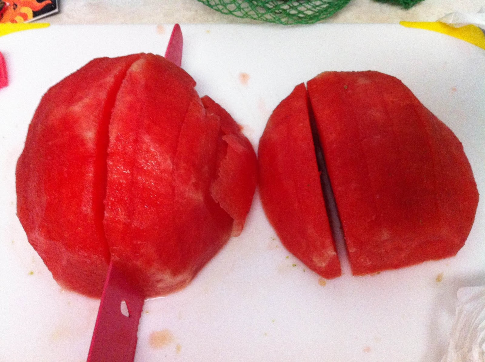 how to cut up a watermelon into wedges