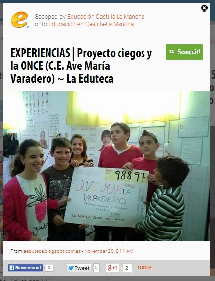El Portal de la Consejería de Educación de la Junta de Castilla la Mancha recoge nuestro Proyecto