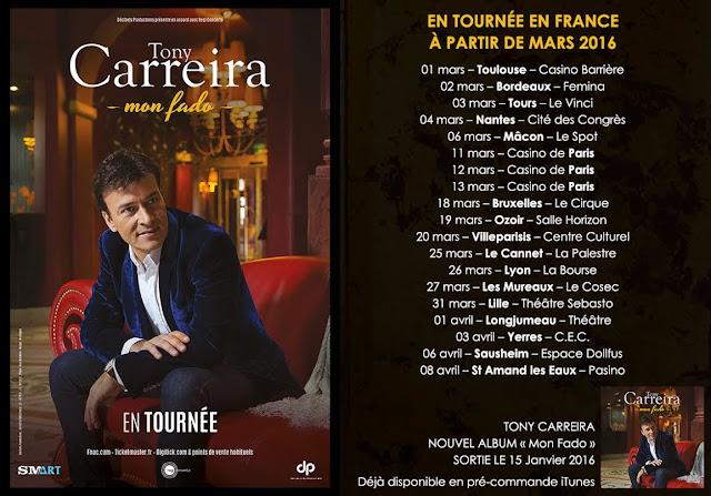 Tony Carreira en tournée