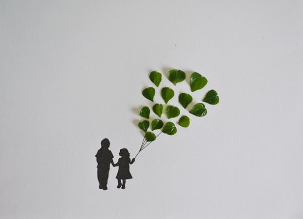 Tang Chiew Ling illustrations design fashion lyrical leaf leaves nature Balloons