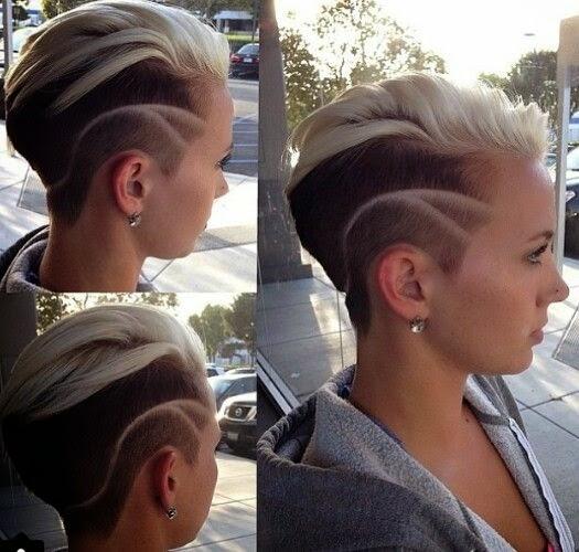 Impressive hair tattoos for girls