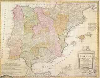 Mapa España y Portugal por Tomás López