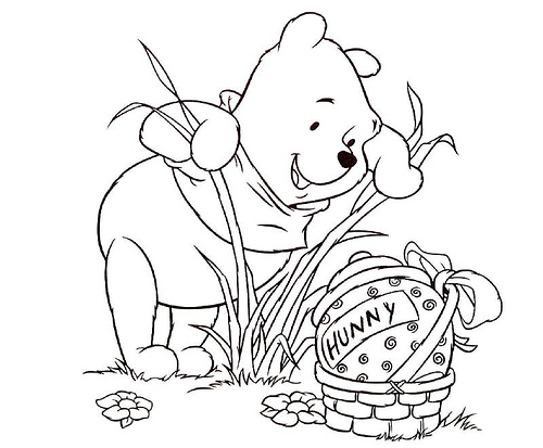 easter tigger coloring pages - photo#11
