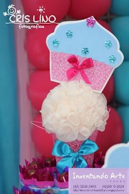 festa decoração cupcakes