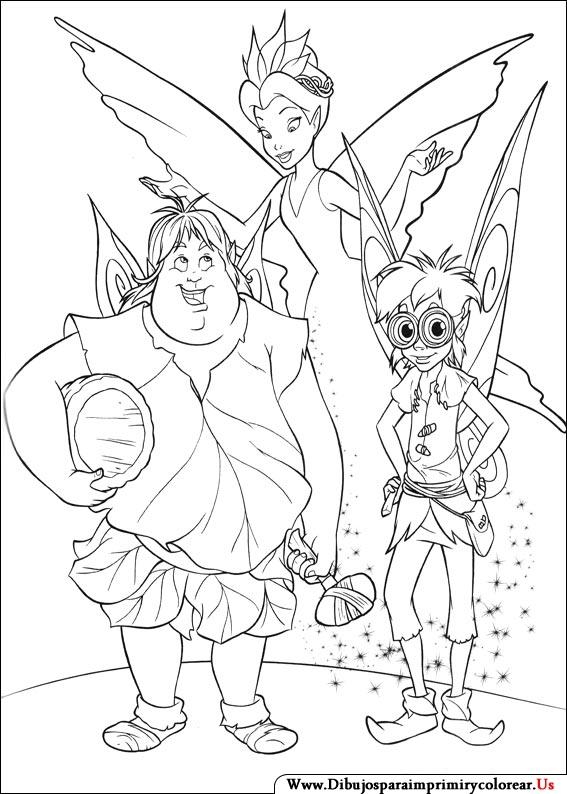 Dibujos para pintar campanita y sus amigas - Imagui