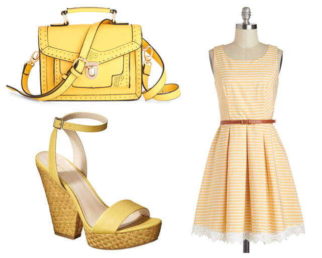 pastel yellow fashion