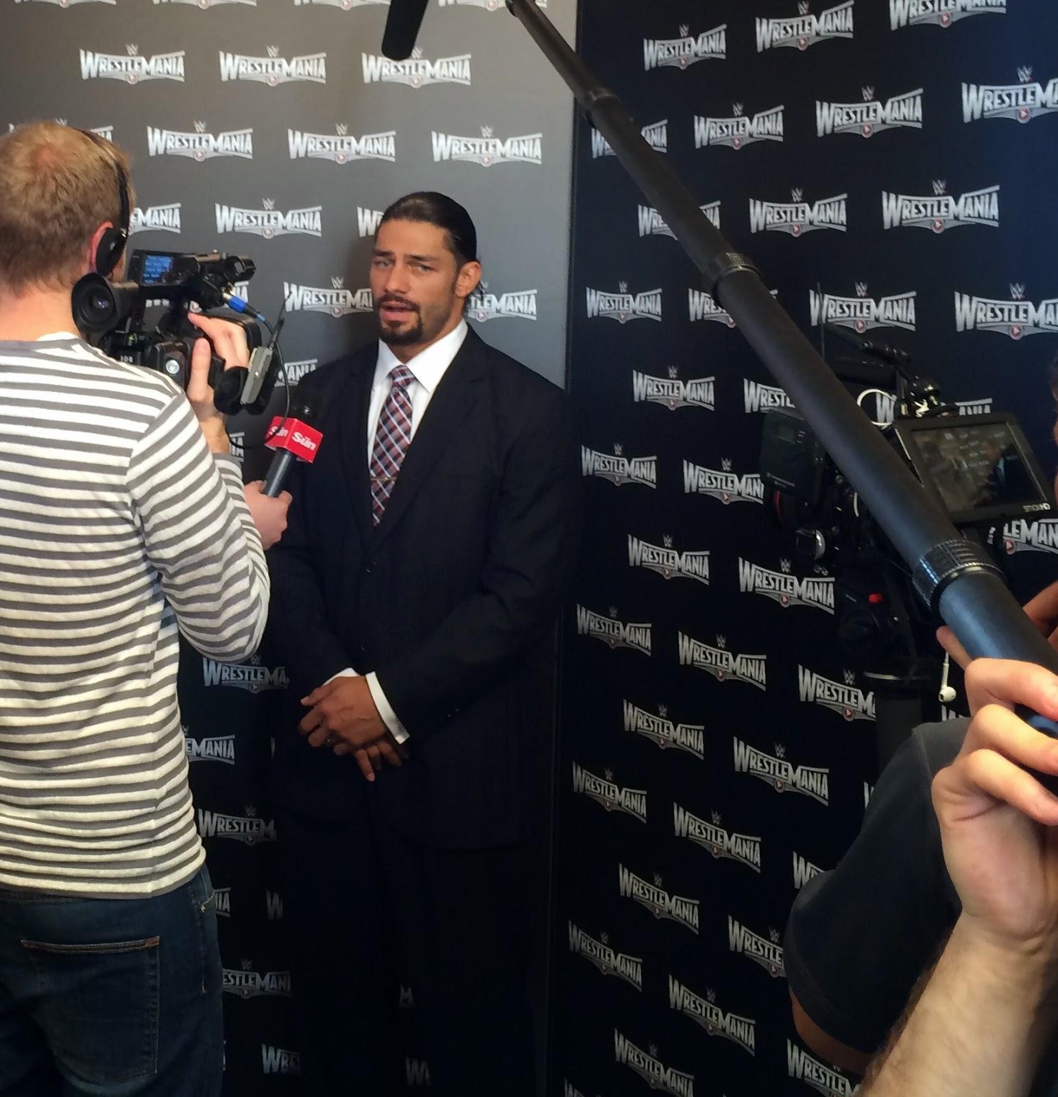 WrestleMania 2015 Roman Reigns media interviews
