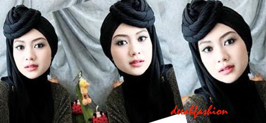 Kreasi Jilbab Topi Unik Trend Jilbab 2014
