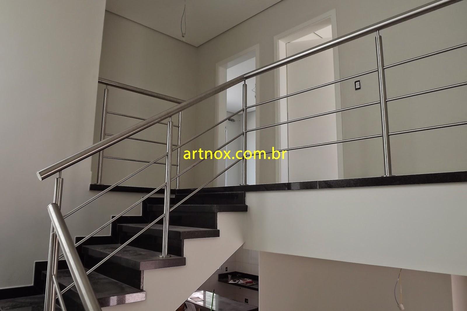 #ABA920  Guarda corpo em aço inox 304 escovado 3 tubinhos Guarulhos São Paulo 4376 Janela Aluminio Guarulhos