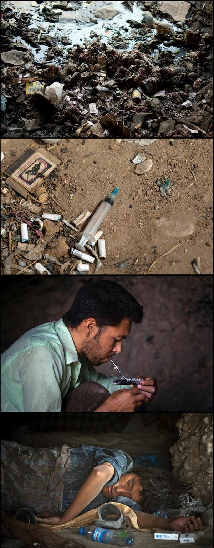 Gambar : Gua-Gua Penagih Dadah Di Afghanistan