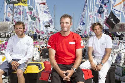 Jérémie Beyou, Corentin Horeau, Charlie Dalin, podium 2014 de La Solitaire. Et pour 2015 ?