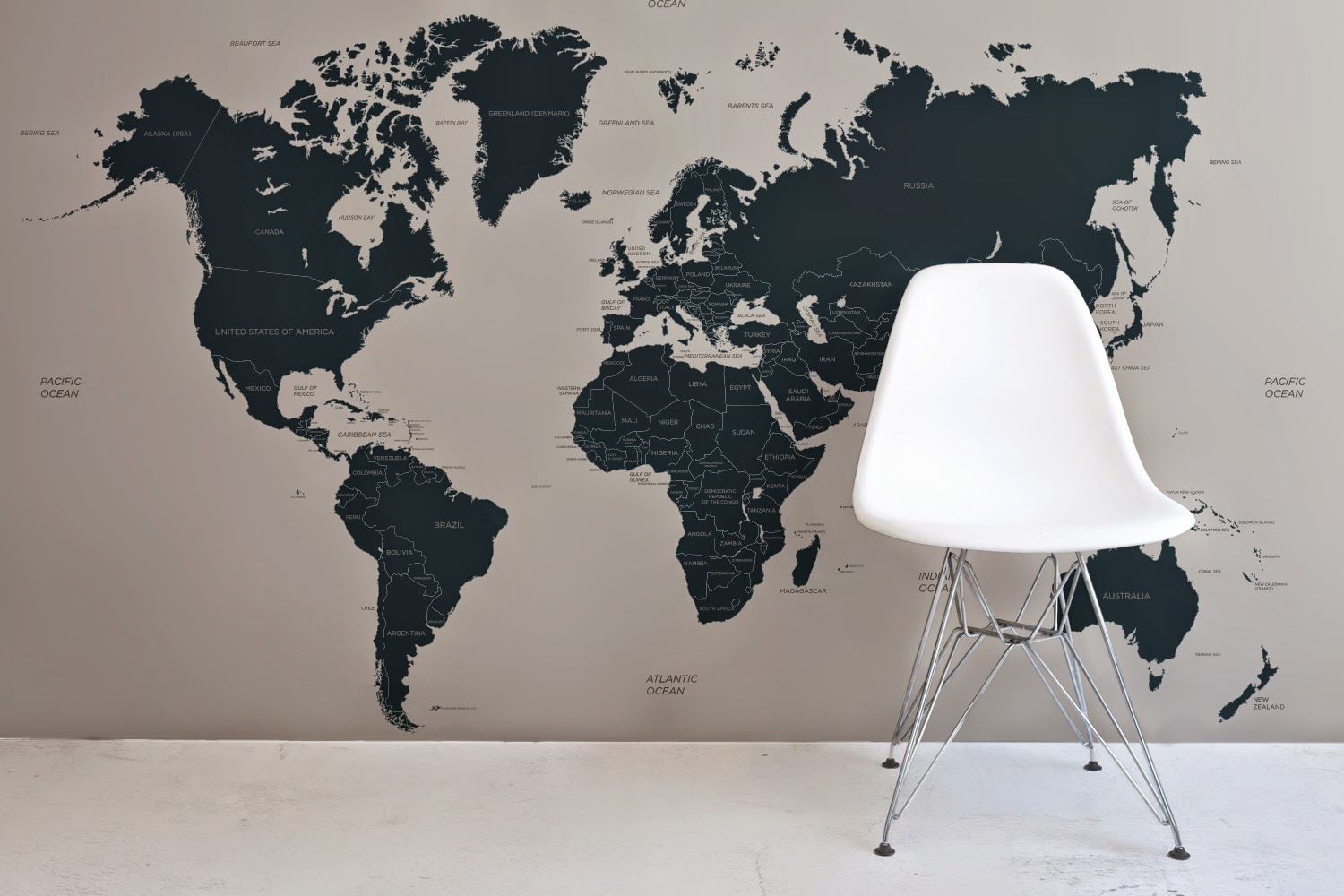 Spectacular Win A World Map From Murals Wallpaper