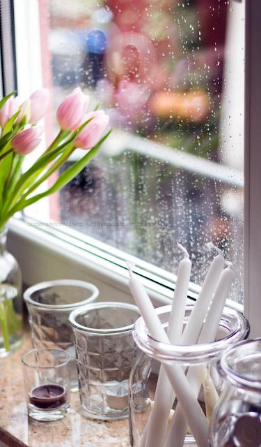 die ersten Tulpen, Esszimmer im Winter dekorieren