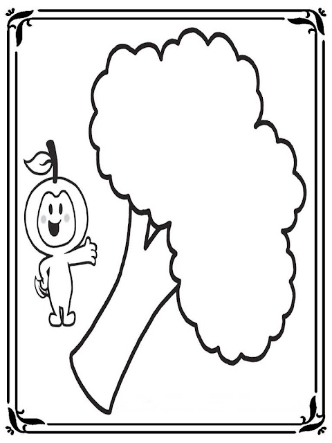 coloring pages of broccoli