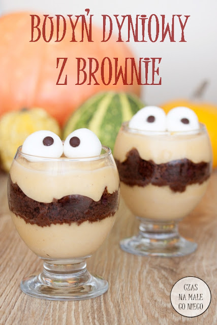 pumpkin spice pudding brownie